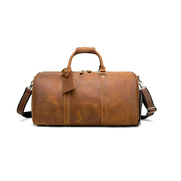 CHAO P.J. Vintage Crazy Horse Leather Men Travel Duffel Bag