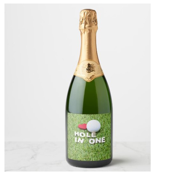Green Grass Golfer Champagne