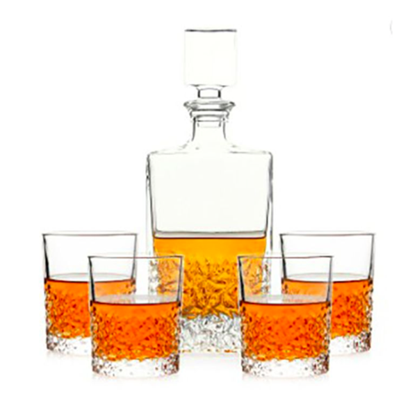 Old Fashion Crystal Whiskey Decanter Set