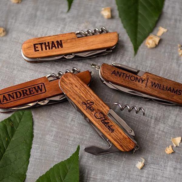 personalized laser-engraved pocket knife