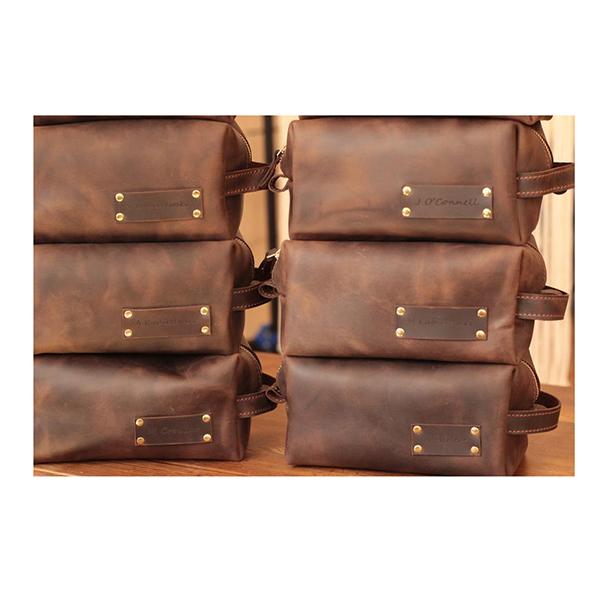 set of groomsmen toiletry bags
