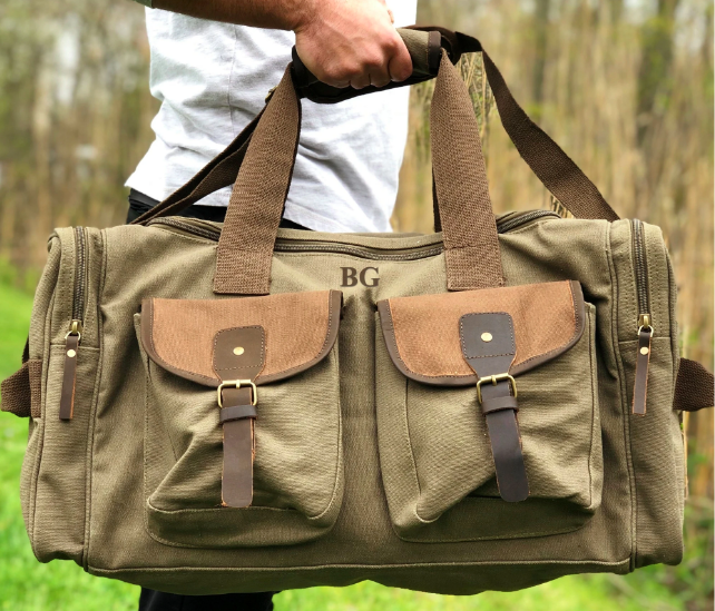 personalized army duffle bags