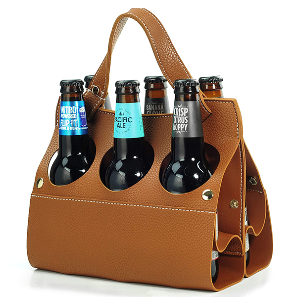 leather beer caddy