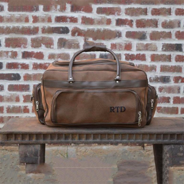 groomsmen leather duffle bags