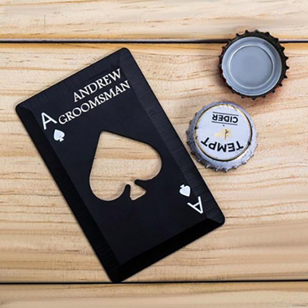Poker Card Bottle Opener