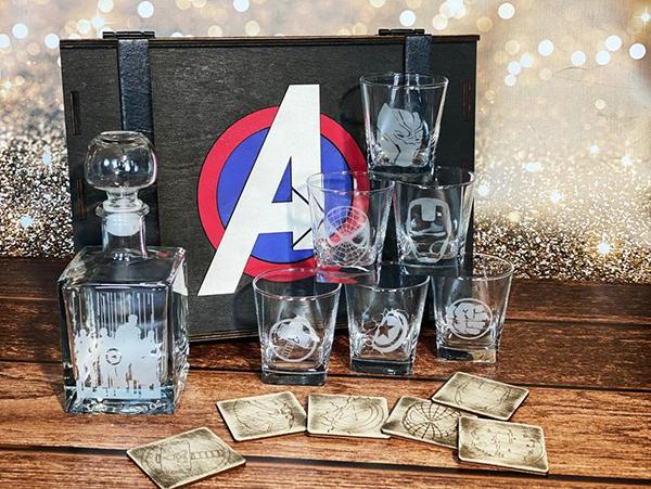 Superhero Whiskey Decanter Gift Set