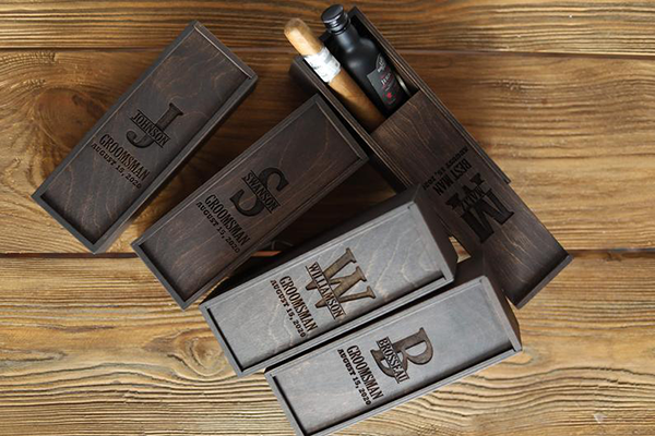 Personalized Groom Cigar Gift Box