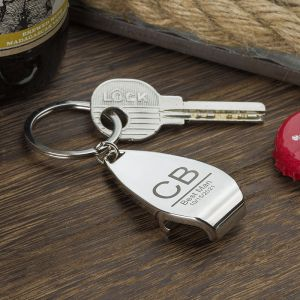 a bottle opener keychain for best man