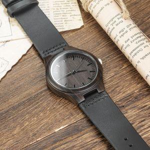 black engraved groomsman wood watch 5