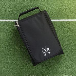 black golf shoe bag