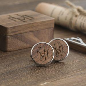 engraved groomsmen cufflinks and tie clip