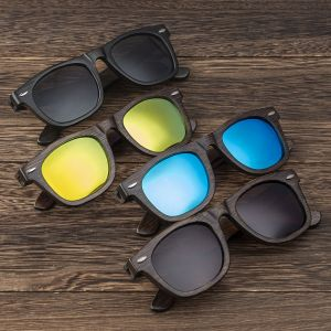 engraved walnut wood sunglasses with distinct color