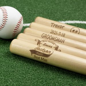 five bats with distinct design and a ball