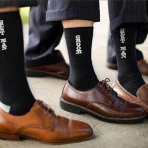 groom best man groomsman socks