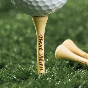 groomsmen engraved golf tee