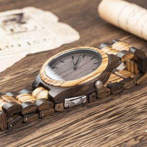groomsmen engraved wood watch 1