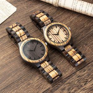 groomsmen engraved wood watch