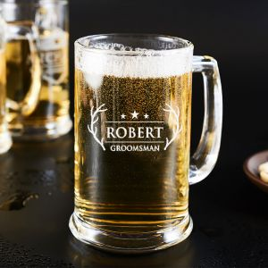 personalized beer mugs with robert design