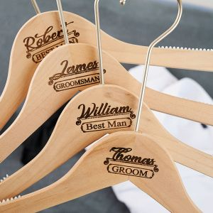 personalized wooden tux hanger