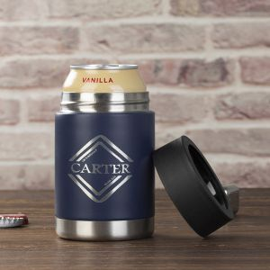 stainless steel beer bottle cold keeper can with a beer