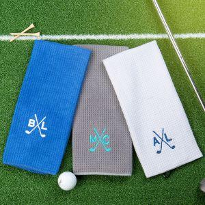 three groomsmen microfiber golf towels