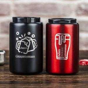 two groomsmen decapitator bottle openers