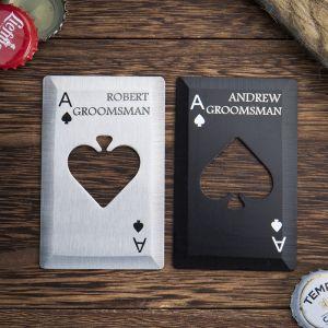 two poker card bottle openers