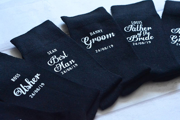 PapercutzByK Personalized Wedding Socks
