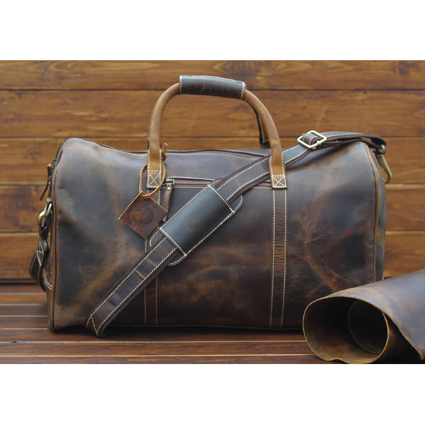 SotonLeather Personalized Handmade Leather Duffle Bag