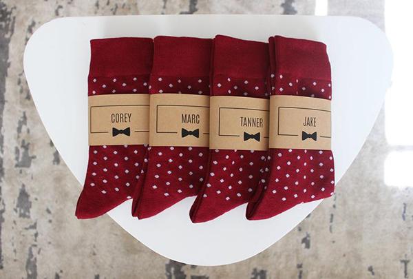 GroomsmanGear Personalized Groomsmen Socks