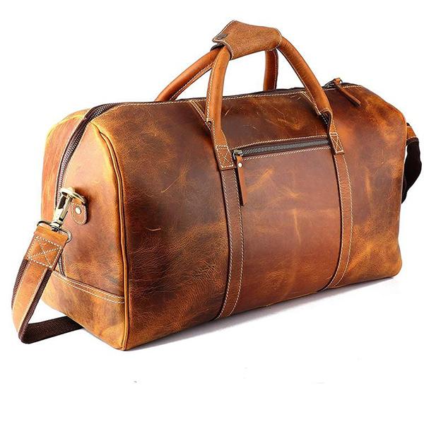 AlbazaCrafts Leather Travel Bag