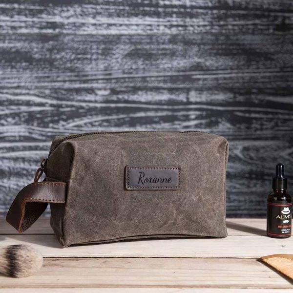 Personalized Canvas Toiletry Bag