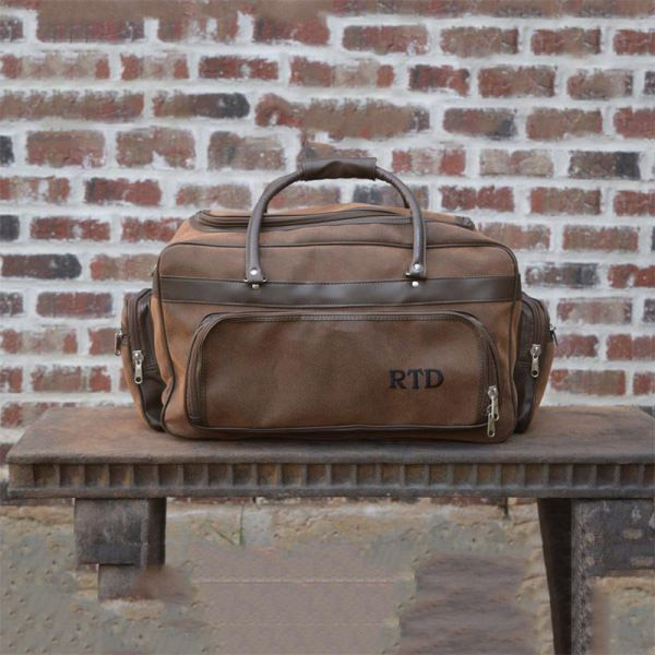 Personalized Leather Travel Bag