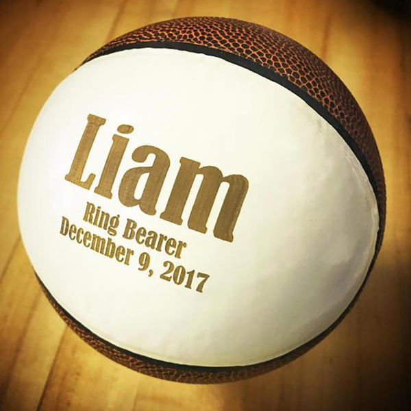 custom engraved basketball