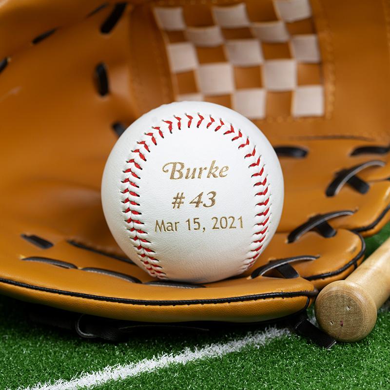 a groomsmen engraved baseball