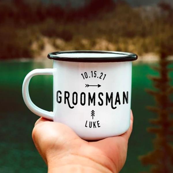 adventure stainless steel groomsmen coffee mugs