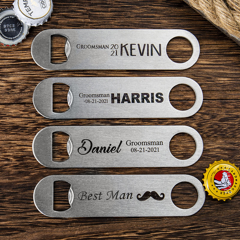 four bottle openers with distinct design