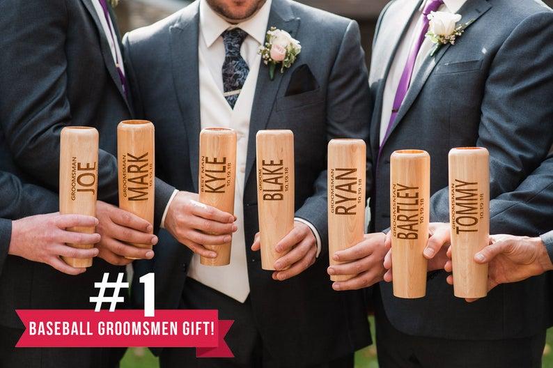 groomsmen baseball bat mugs