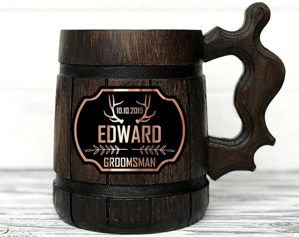 medieval groomsmen mug