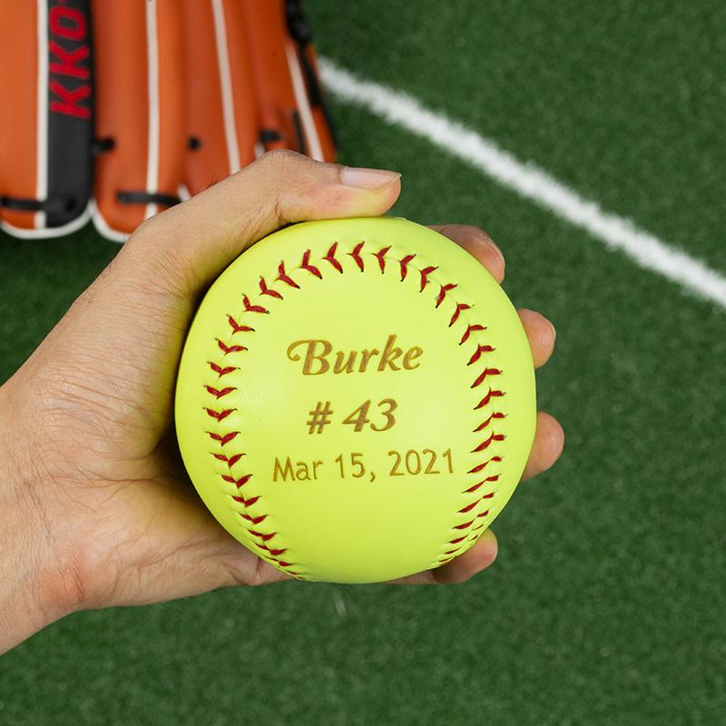 personalized engraved groomsmen softball