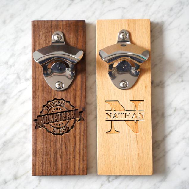 personalized wall mount bottle opener