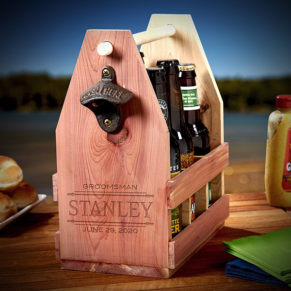 wooden beer caddy for the big guys